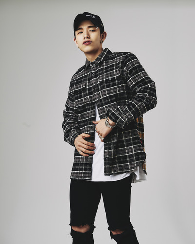 Two-tone checked flannel shirt (Black/Yellow)