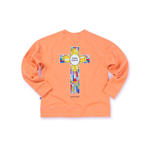 NEVER DIE CREWNECK PEACH