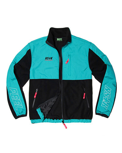 NSFE FLEECE ZIP-UP JACKET (BLK-MINT)