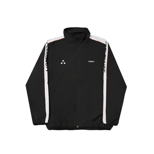 PIPING TRACK JACKET BLACK