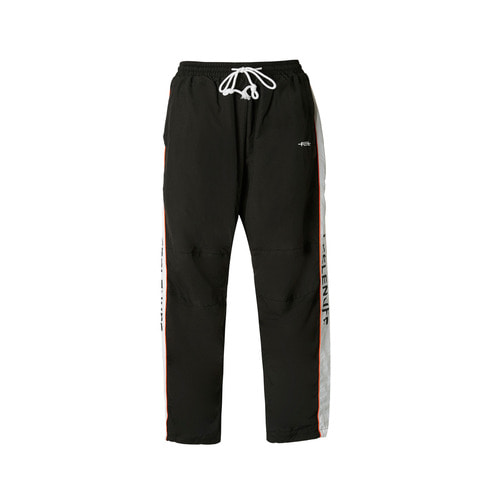 PIPING TRACK PANTS BLACK